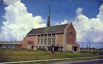 Moody First Methodist Church - Galveston, Texas TX Postcard