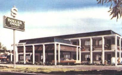 Dollar Inn - Fort Worth, Texas TX Postcard