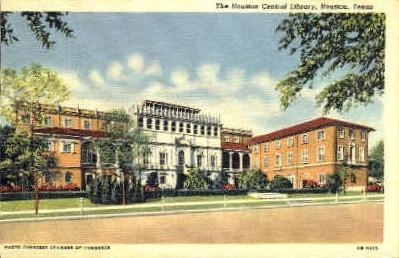 Houston Central Library - Texas TX Postcard