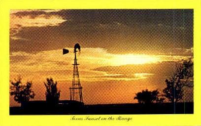 Texas Sunset - Misc Postcard