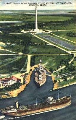 Battleship Texas - Houston Postcard