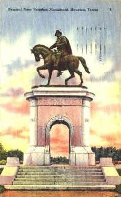 Sam Houston Monuments - Texas TX Postcard