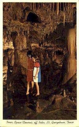 Inner Space Caverns - Georgetown, Texas TX Postcard