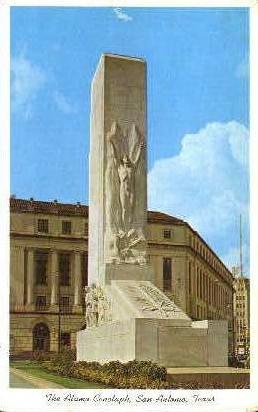Alamo Cenotaph - San Antonio, Texas TX Postcard