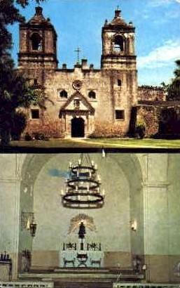 Mission Nuestra Senora - San Antonio, Texas TX Postcard