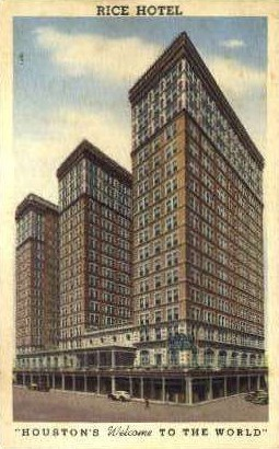 Rick Hotel - Houston, Texas TX Postcard
