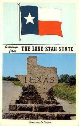 Lone Star State - Misc, Texas TX Postcard