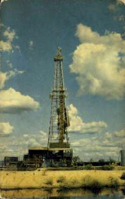 Texas Drilling Rig - Misc Postcard