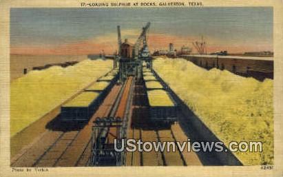 Loading Sulphur - Galveston, Texas TX Postcard