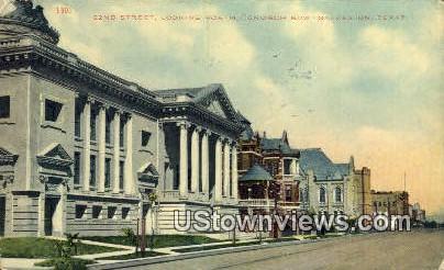 22nd Street, Church Row - Galveston, Texas TX Postcard