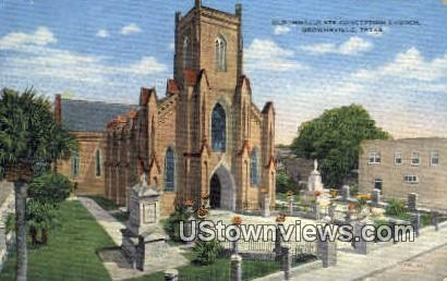 Old Immaculate Conception Church - Brownsville, Texas TX Postcard