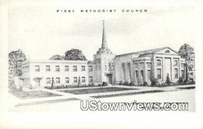 First Methodist Church - Pecos, Texas TX Postcard