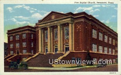 First Baptist Church - Beaumont, Texas TX Postcard