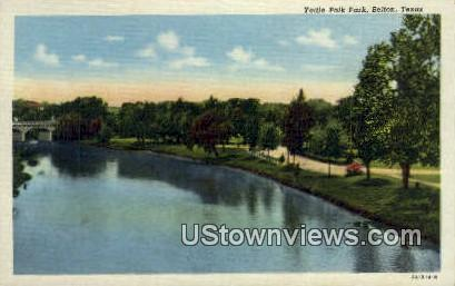 Yettie Polk Park - Belton, Texas TX Postcard