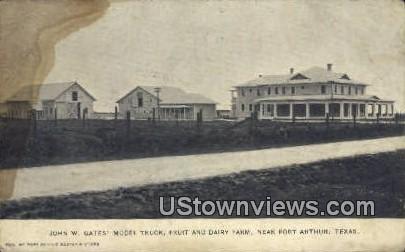 John W Gates Model Truck - Port Arthur, Texas TX Postcard