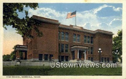 High School, Marshall - Texas TX Postcard