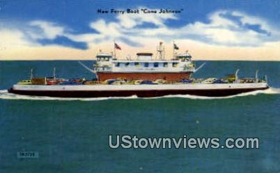 New Ferry Boat - Galveston, Texas TX Postcard