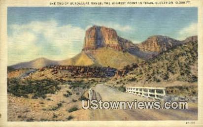 Guadalupe Range, Texas      ;     Guadalupe Range, TX Postcard