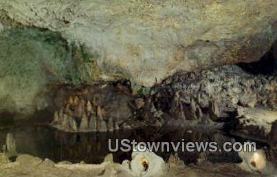 Miniature Lake, Cascade Caverns - Boerne, Texas TX Postcard