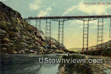 Pecos High Bridge - El Paso, Texas TX Postcard