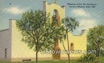 Missions of the Ole Southwest - Socorro, Texas TX Postcard