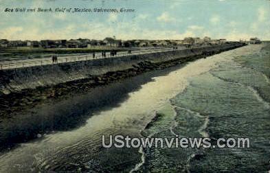 Gulf of Mexico - Galveston, Texas TX Postcard