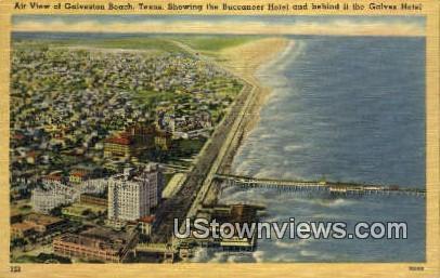 Buccaneer Hotel - Galveston Beach, Texas TX Postcard