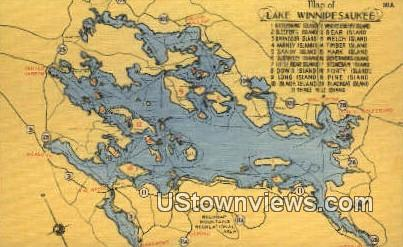 Lake Winnipesaukee, TX     ;     Lake Winnipesaukee, Texas Postcard