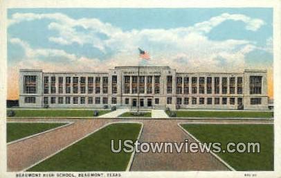 Beaumont High School - Texas TX Postcard
