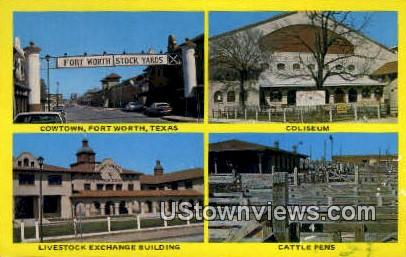 Cowtown - Fort Worth, Texas TX Postcard