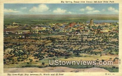 Big Spring, Acre State Park - Fort Worth, Texas TX Postcard