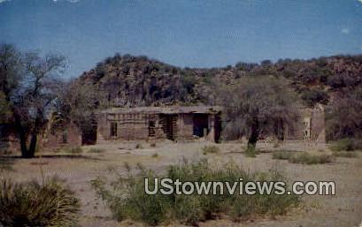 Old Fort Davis - Texas TX Postcard