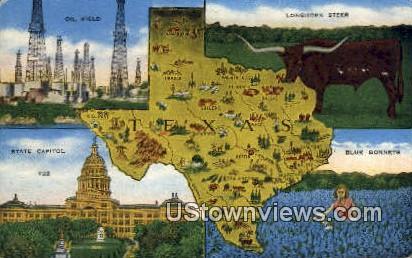 Oil Field - Houston, Texas TX Postcard