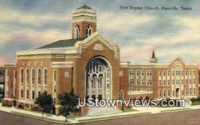 First Baptist Church - Amarillo, Texas TX Postcard