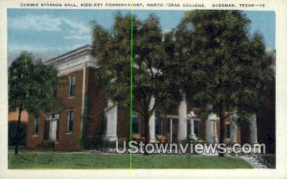 Cammie Starnes Hall, North Texas College - Sherman Postcard