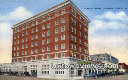 Denison Hotel - Texas TX Postcard