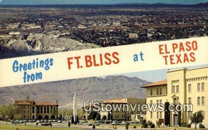 Fort Bliss - El Paso, Texas TX Postcard