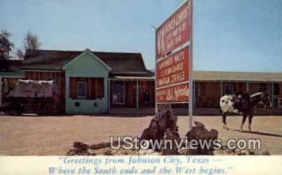 Johnson City, TX     ;     Johnson City, Texas Postcard