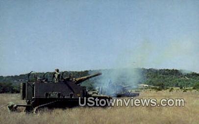 Self Propelled 155MM Howitzers - Fort Hood, Texas TX Postcard