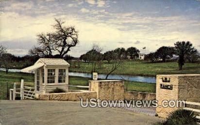 Entrance LBJ Ranch - Johnson City, Texas TX Postcard
