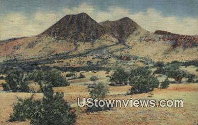 Twin Sisters - Davis Mountains, Texas TX Postcard