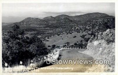 Real Photo - McDonald Observatory - Fort Davis, Texas TX Postcard
