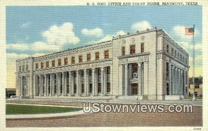 US Post Office - Beaumont, Texas TX Postcard