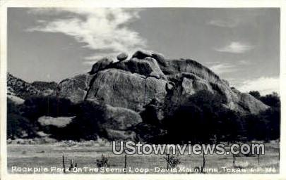 Real Photo - Rockpile Park - Davis Mountains, Texas TX Postcard