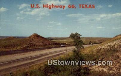 Highway 66 - Shamrock, Texas TX Postcard