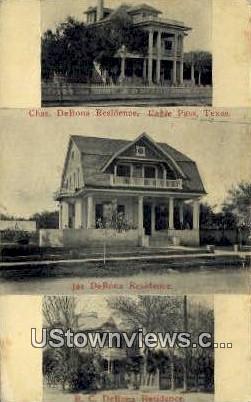 Chas De Bona Residence - Eagle Pass, Texas TX Postcard