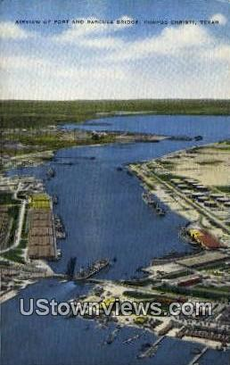 Port & Bascule Bridge - Corpus Christi, Texas TX Postcard