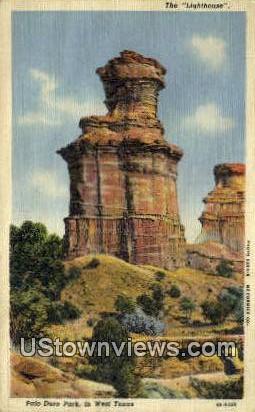 Lighthouse - Palo Duro Park, Texas TX Postcard