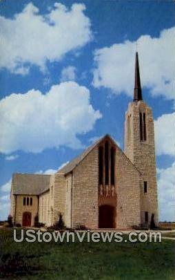 Texas Lutheran College, Chapel - Seguin Postcard