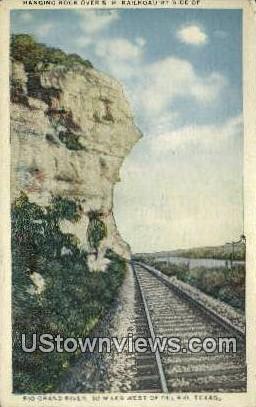 Hanging Rock, Rio Grande - Del Rio, Texas TX Postcard